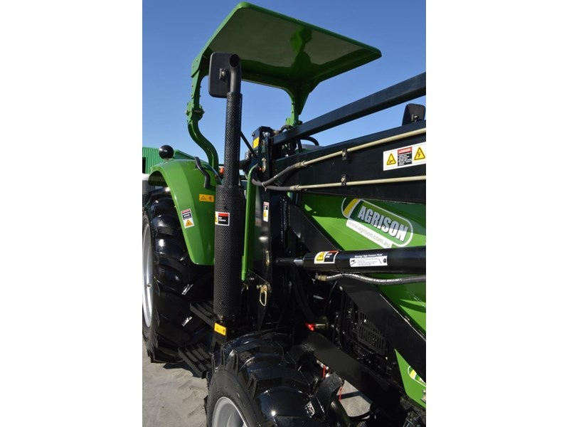 agrison 80hp cdf 4x4 4in1 bucket - 5 year warranty, free 6 ft slasher 455374 006