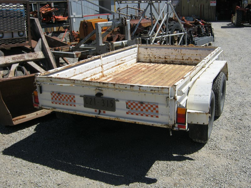 custom tandem box trailer 461394 002