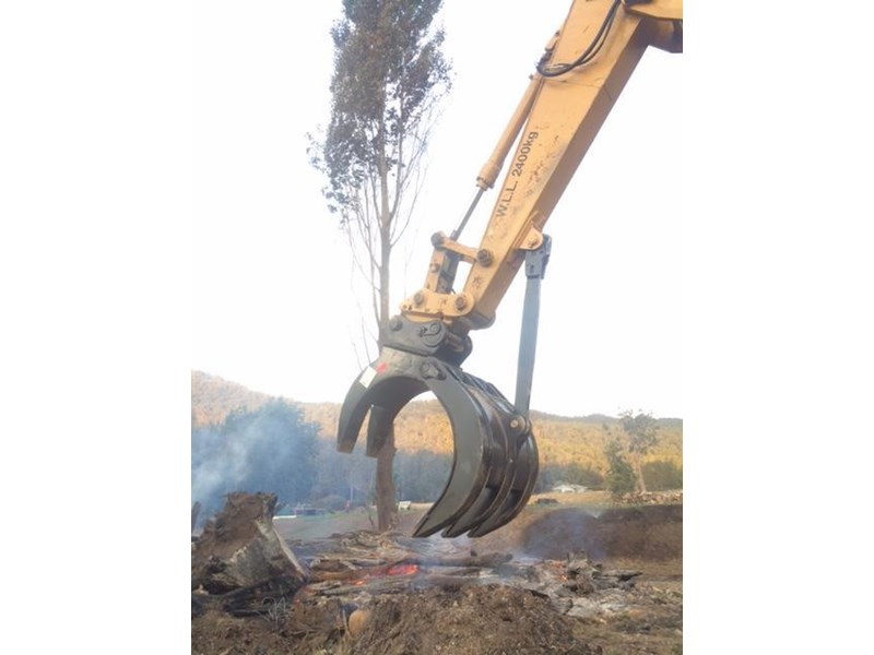 ausmetal are manual 35-40 ton log grab grapple 453623 008