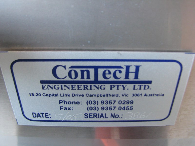 contech engineering lms stainless steel tall motorised conveyor - 2m long 469259 003