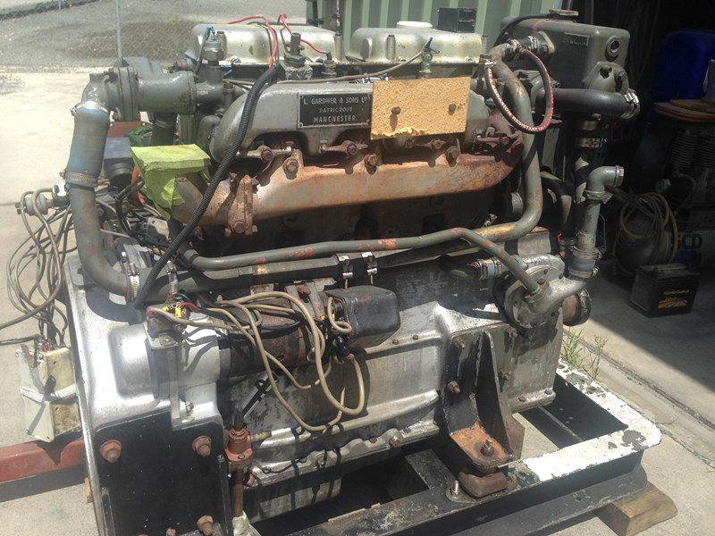 **new listing** gardner 4lw genset with auxiliary drive 470892 001
