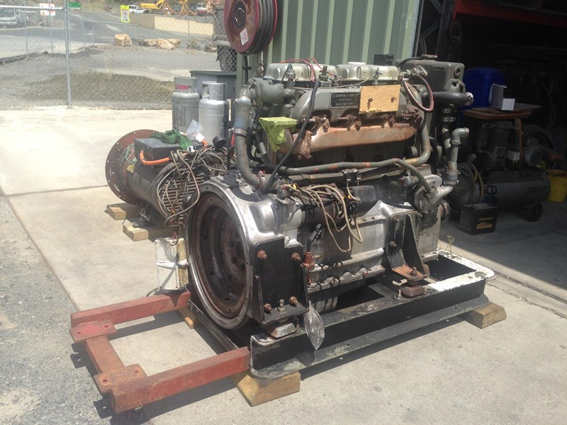 **new listing** gardner 4lw genset with auxiliary drive 470892 004