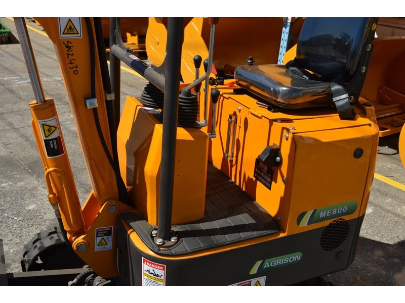 agrison mini excavator free 3x buckets ripper post borer log grabber 474187 008