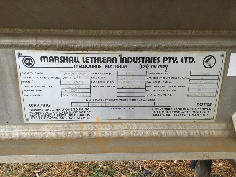 marshall lethlean bogie fuel tanker with pumping gear 495303 003