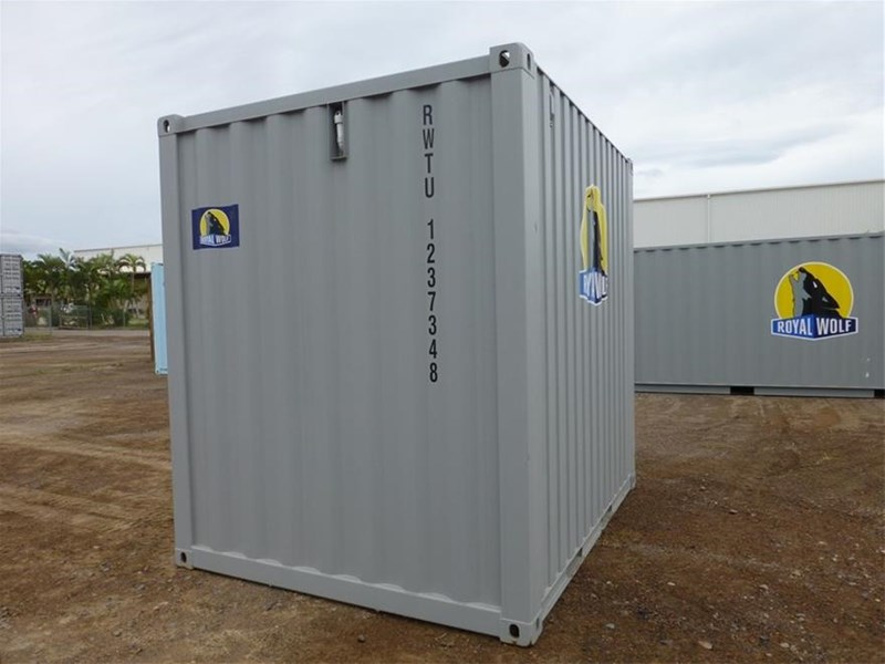 "10"" shipping container builders combo 10` shipping container - toilet - storage - bench 499211 003"