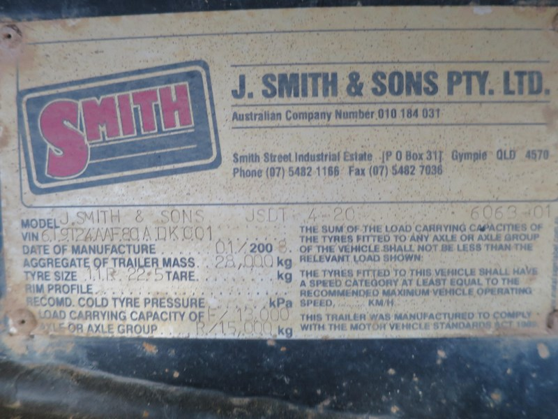 j smith & sons quad axle dog tipper 500807 008