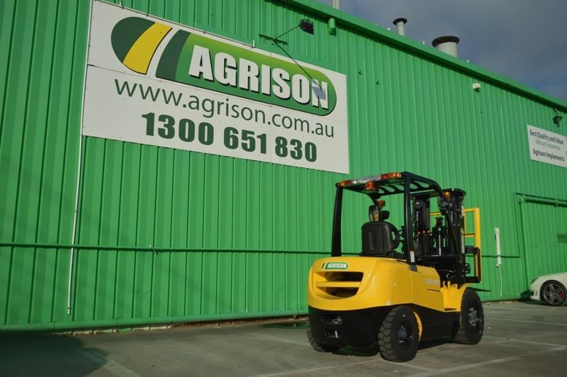 agrison 3 tonne forklift - 3 stage cont. mast - nationwide delivery 505628 010