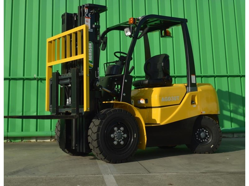 agrison 3 tonne forklift - 3 stage cont. mast - nationwide delivery 505629 002