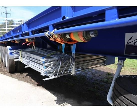 aaa 45' flat deck semi with pins 505232 005