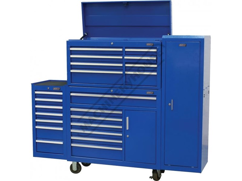 tool chests ich-8d + irc-7d + isl-2d + isc-7d - industrial series tool chest & roller cabinet with side locker & side cabinet package 109016 002