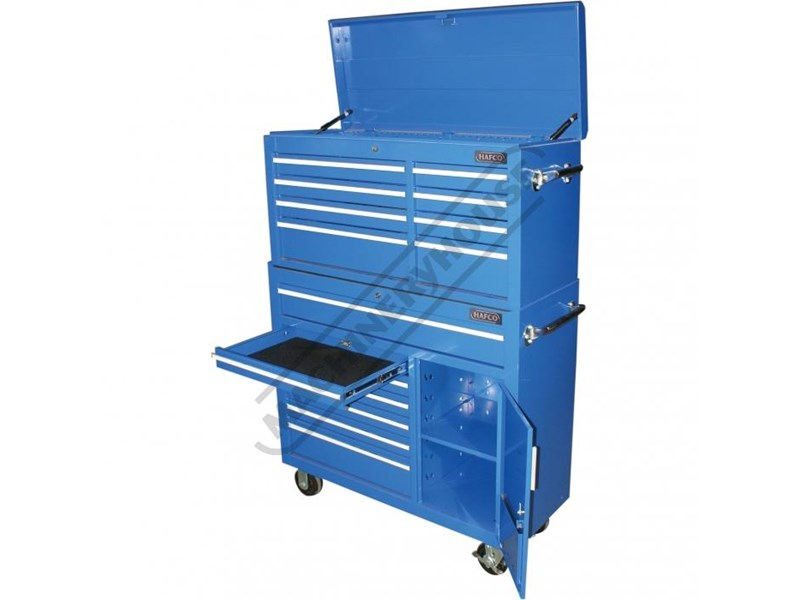 tool chests ich-8d + irc-7d + isl-2d + isc-7d - industrial series tool chest & roller cabinet with side locker & side cabinet package 109016 004