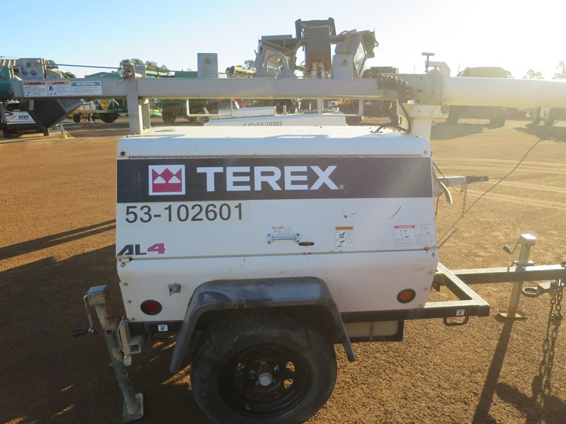 terex al4 trailer mounted lighting tower 518323 002
