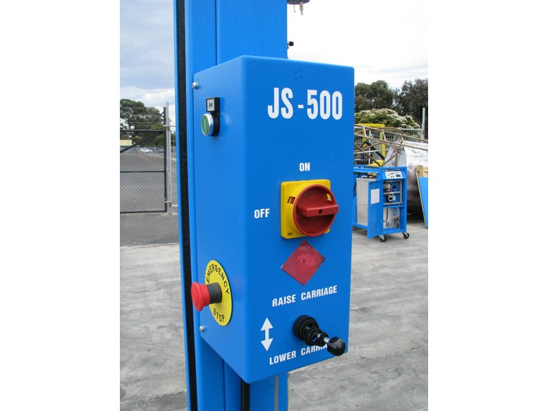 integrated machinery electric manual js-500 pallet stretch wrapper machine 548493 005