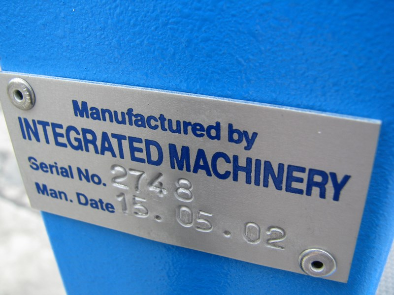 integrated machinery electric manual js-500 pallet stretch wrapper machine 548493 006