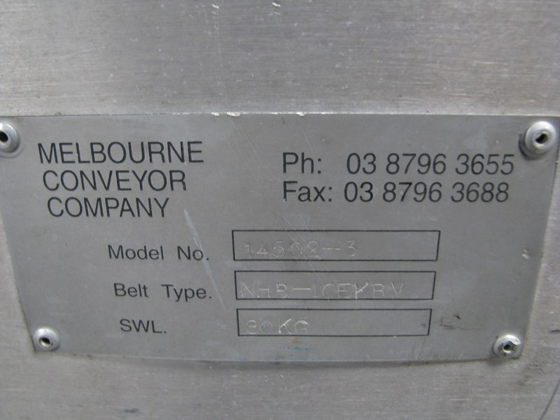melbourne conveyor company motorised belt conveyor - 4m long 555250 004