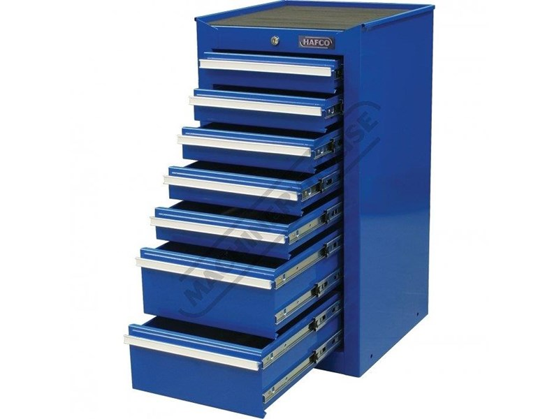 tool chests ich-8d + irc-7d + isl-2d + isc-7d - industrial series tool chest & roller cabinet with side locker & side cabinet package 109016 006