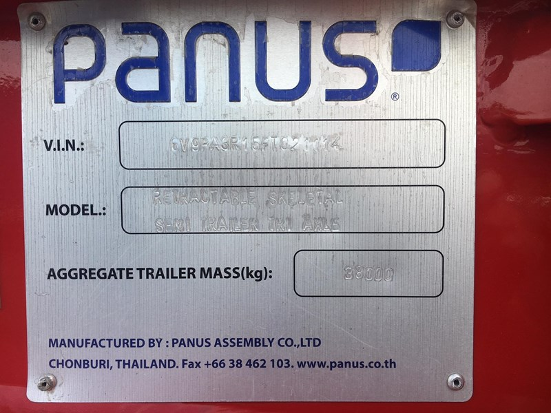 panus retractable skeletal semi trailer 499267 010