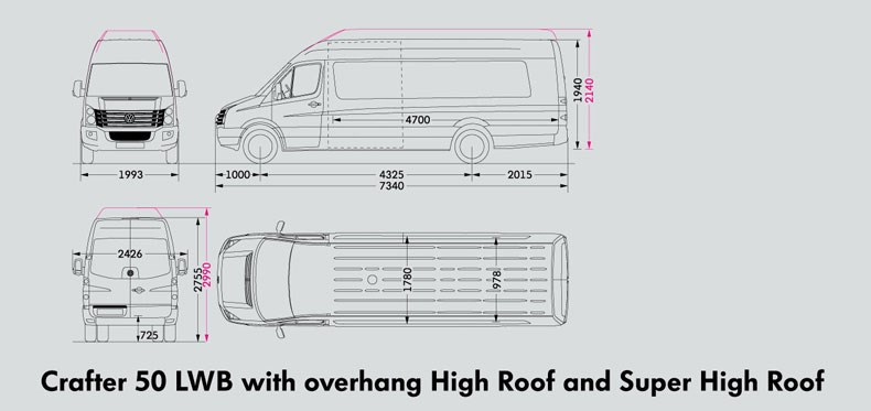 New Volkswagen Crafter 50 Utility Van High Roof Light