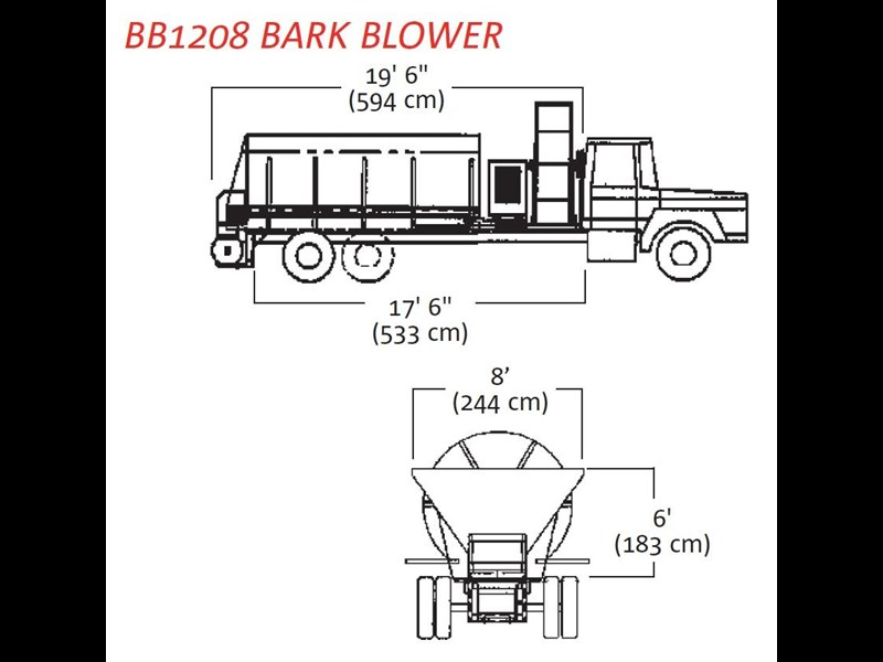 finn bb-1222 bark blower 270081 005