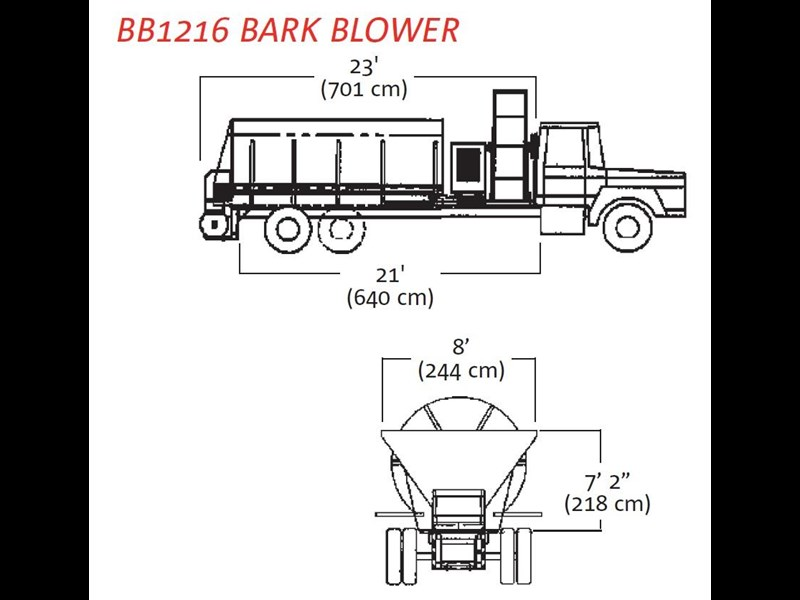finn bb-1222 bark blower 270081 007