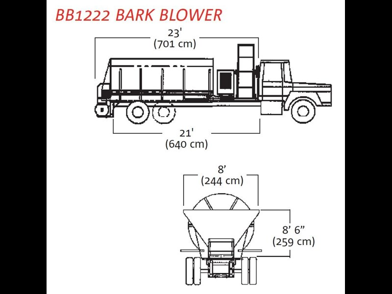 finn bb-1222 bark blower 270081 009