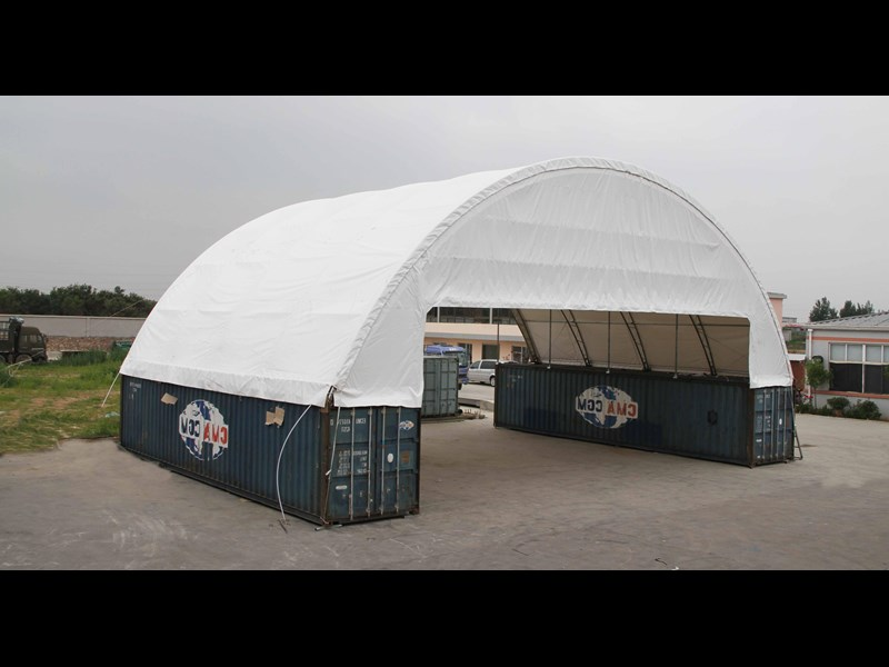 Double Trussed Container Shelter C6040d For Sale