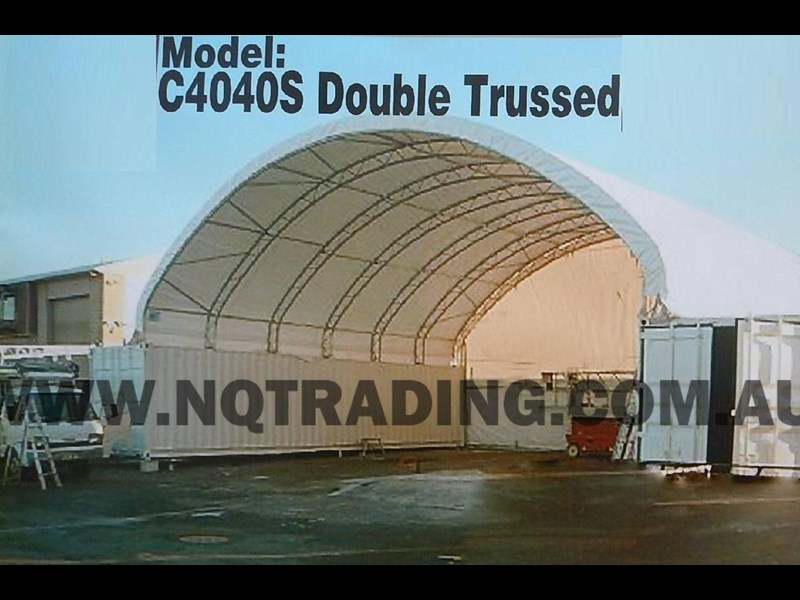 nq trading 40ft double trussed container shelter c4040d 343212 003