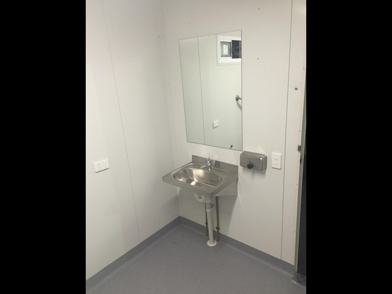 e i group portables compliant 2.4m x 2.4m disabled toilet. 144406 011