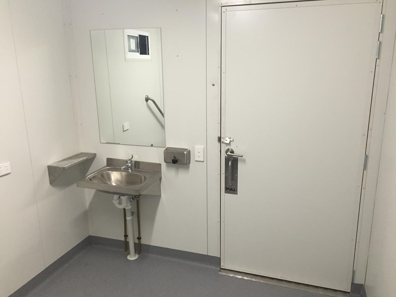 e i group portables compliant 2.4m x 2.4m disabled toilet. 144406 015