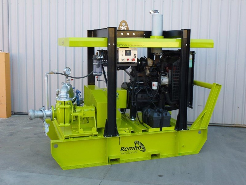 remko heavy duty diesel driven sand/sludge/slurry pump package 408395 005