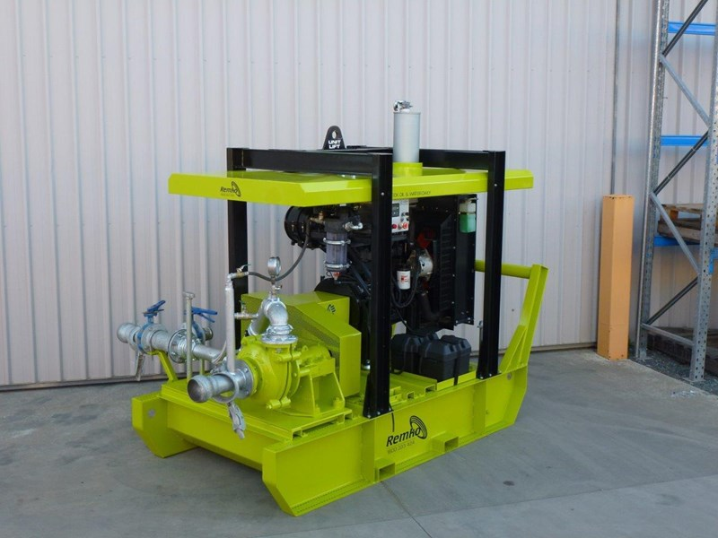 remko heavy duty diesel driven sand/sludge/slurry pump package 408395 015