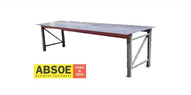 work benches steel frame & top - 2400mm w - workbench 418685 001