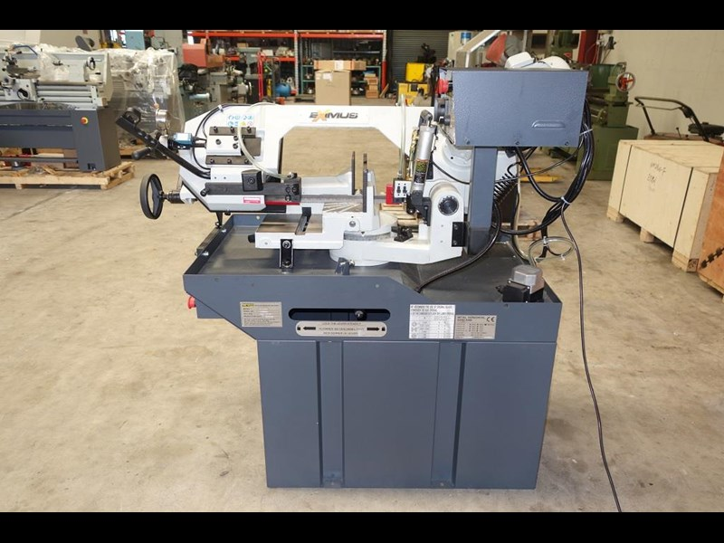 eximus taiwanese manual ø225mm capacity double mitre bandsaw 173635 015