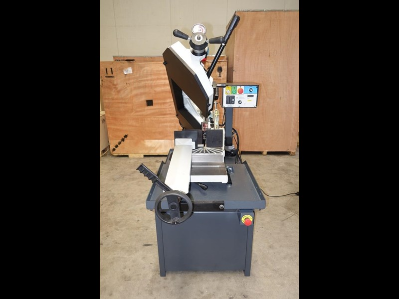 eximus taiwanese manual ø225mm capacity double mitre bandsaw 173635 005