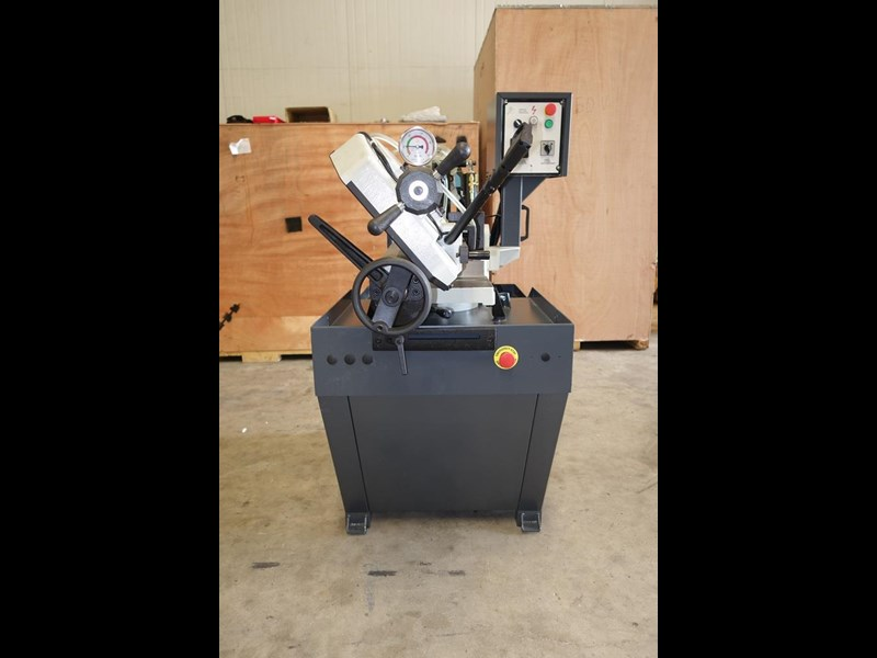 eximus taiwanese manual ø225mm capacity double mitre bandsaw 437508 003