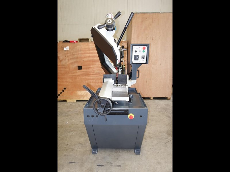 eximus taiwanese manual ø225mm capacity double mitre bandsaw 437508 033