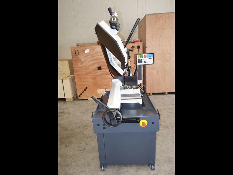 eximus taiwanese manual ø250mm capacity double mitre bandsaw 437507 003