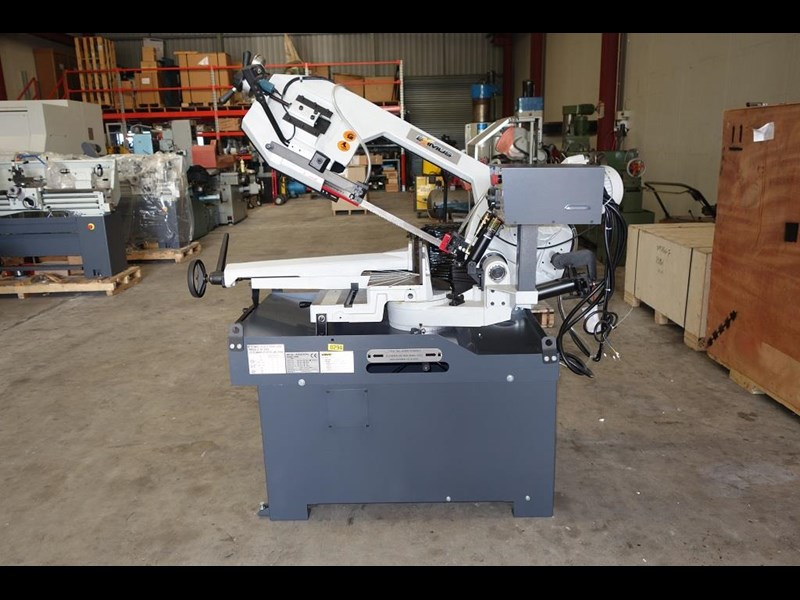 eximus taiwanese manual ø250mm capacity double mitre bandsaw 437507 011