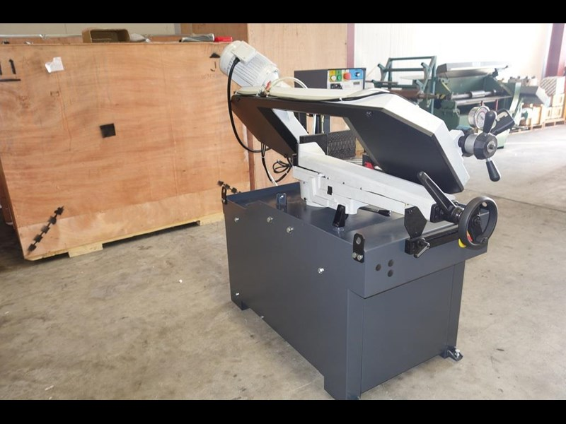 eximus taiwanese manual ø250mm capacity double mitre bandsaw 437507 017