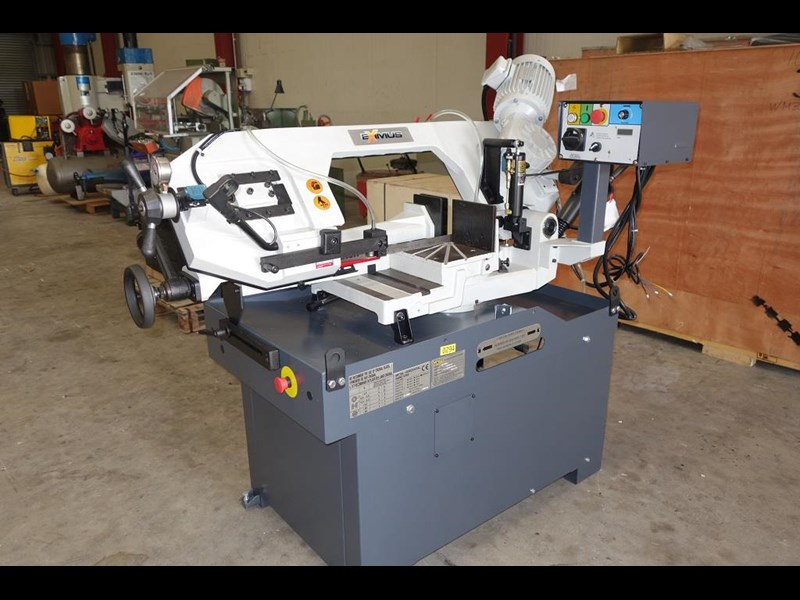 eximus taiwanese manual ø250mm capacity double mitre bandsaw 437507 021