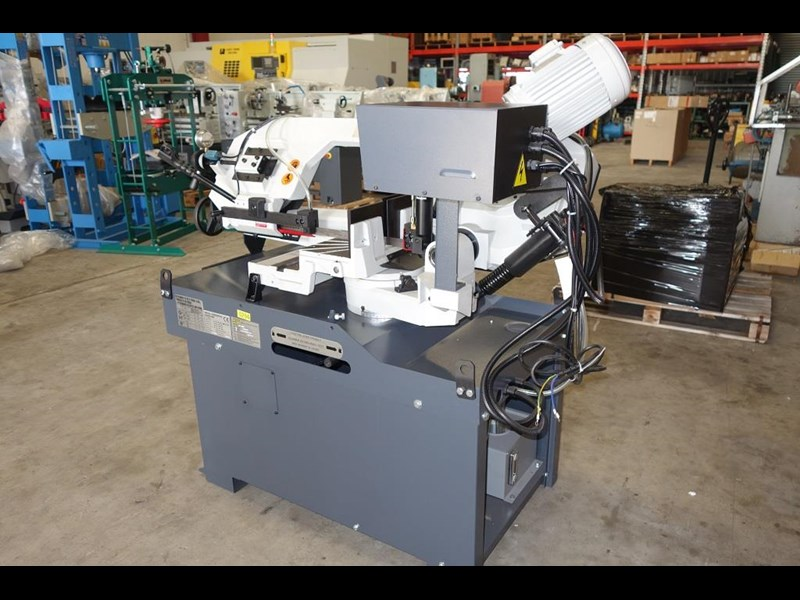 eximus taiwanese manual ø250mm capacity double mitre bandsaw 437507 025
