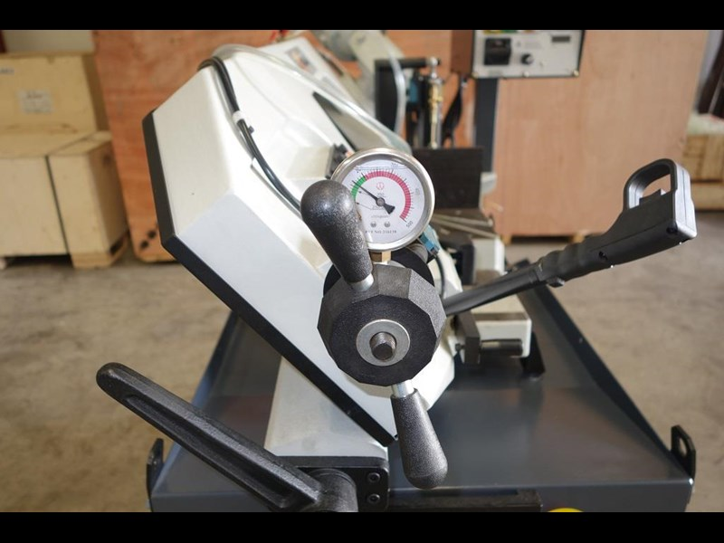 eximus taiwanese manual ø250mm capacity double mitre bandsaw 437507 031