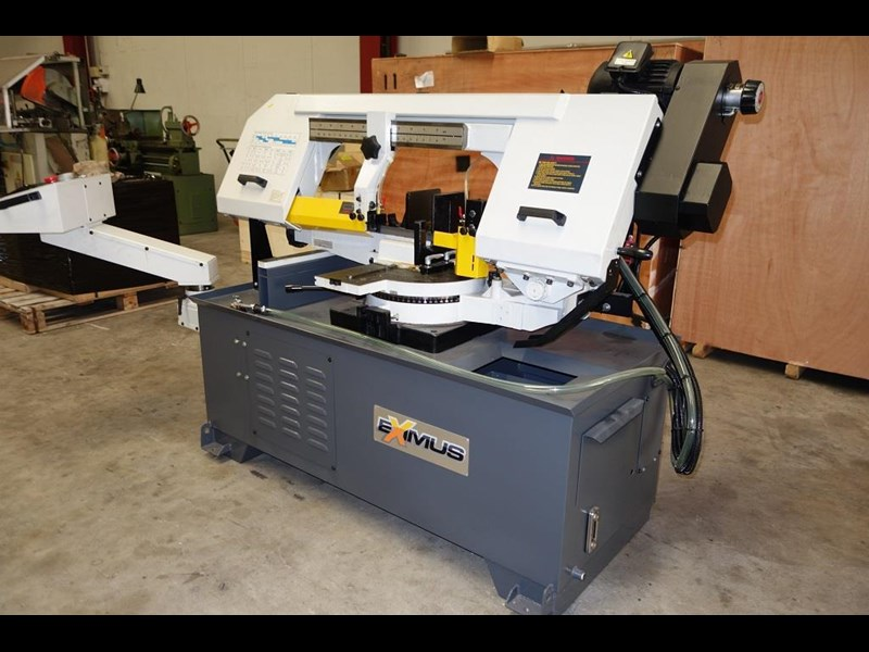 eximus taiwanese semi-automatic ø330mm capacity double mitre bandsaw 437668 007