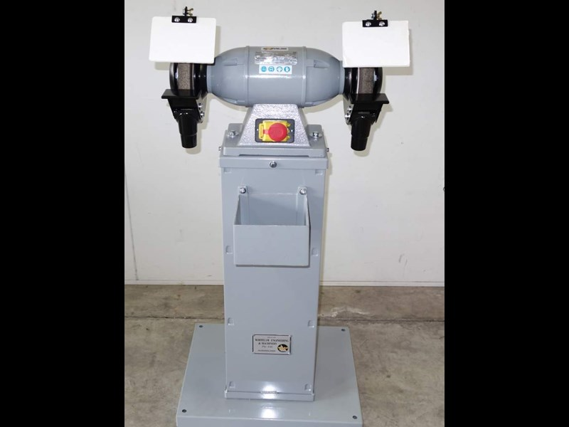 "eximus taiwanese 8"" pedestal grinder 240v with stand 437799 001"
