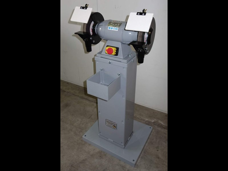 "eximus taiwanese 8"" pedestal grinder 240v with stand 437799 005"