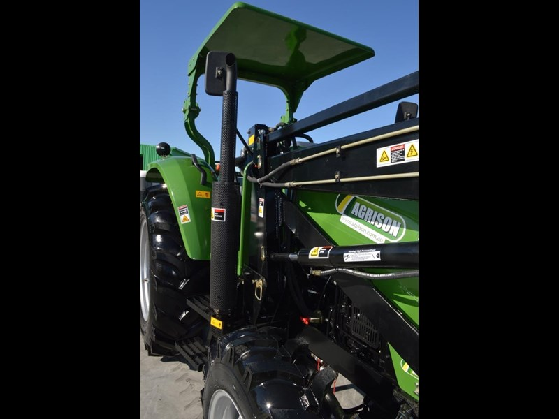 agrison 80hp cdf 4x4 4in1 bucket - 5 year warranty, free 6 ft slasher 455374 011