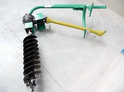 "hayes 3pl pto tractor post hole digger medium duty with standard 9"" premium auger 467683 007"