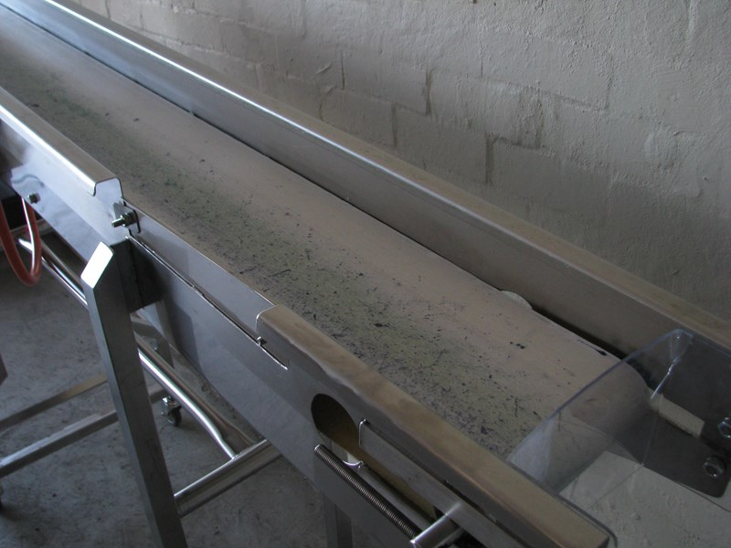 contech engineering lms stainless steel tall motorised conveyor - 2m long 469259 009