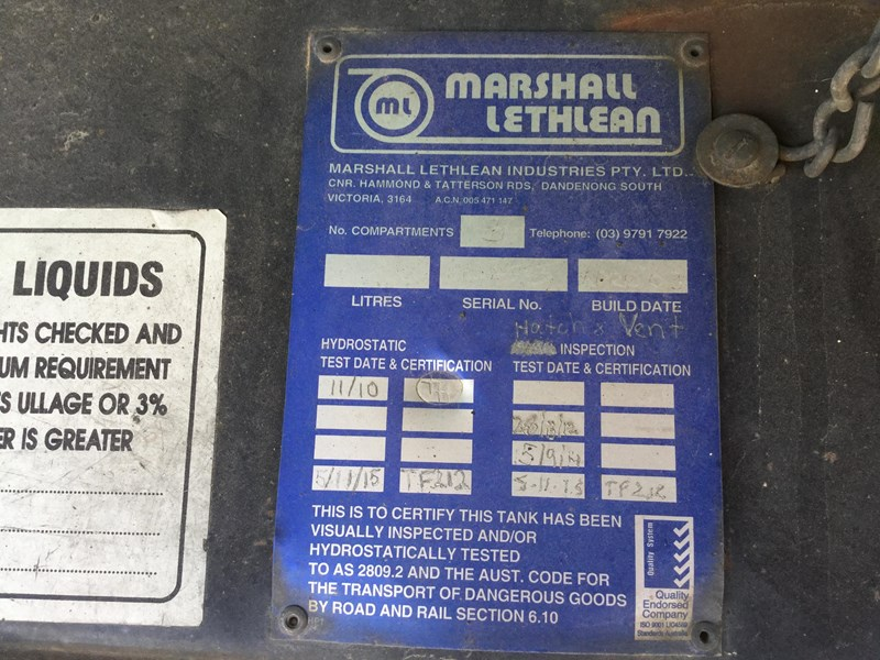 marshall lethlean 19 meter b double set fuel tanker 472477 021