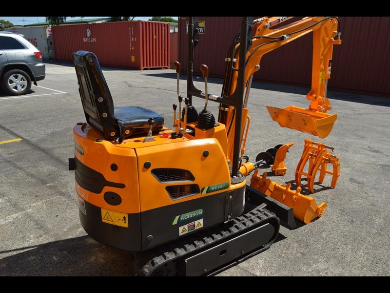 agrison mini excavator free 3x buckets ripper post borer log grabber 474187 003